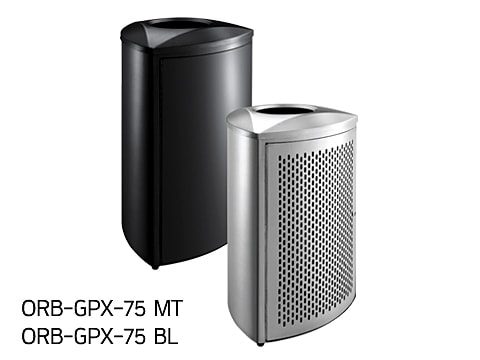 Central Area Waste Bin-3 ORB-GPX-75-(MT)(BL)